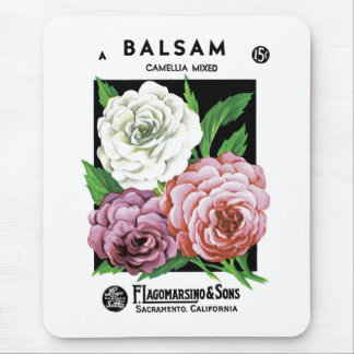 Balsam Seed Packet Label Mouse Pad