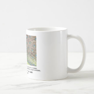 Baltasar Gracian At 20 A Man Is A Peacock Quote Coffee Mug
