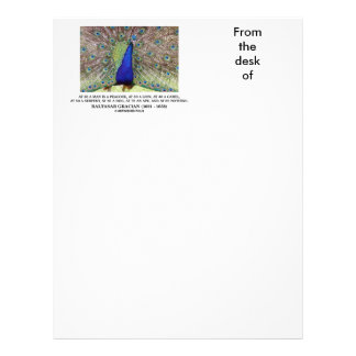 Baltasar Gracian At 20 A Man Is A Peacock Quote Letterhead