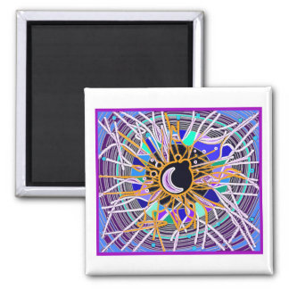 Baltic Moon 2 Inch Square Magnet