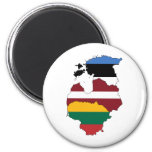 Baltic states 2 inch round magnet