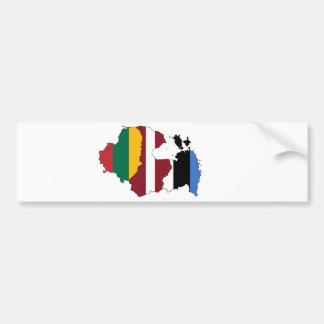 Baltic states bumper sticker