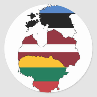 Baltic states classic round sticker