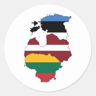 Baltic states classic round sticker