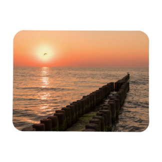 Baltic sunset magnet
