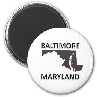Baltimore 2 Inch Round Magnet