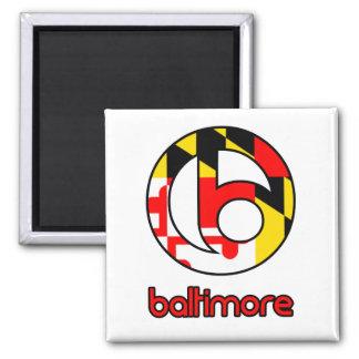 Baltimore 2 Inch Square Magnet