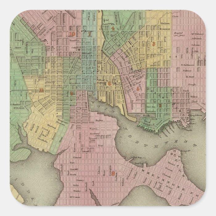 Baltimore 2 square sticker