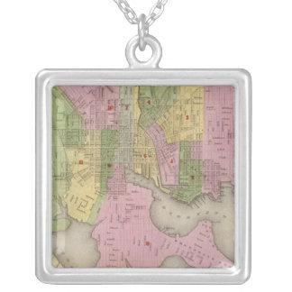 Baltimore 3 square pendant necklace