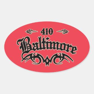 Baltimore 410 pegatina ovalada