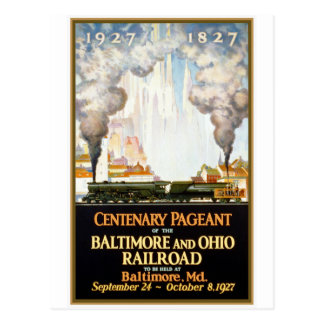 """Baltimore and Ohio Railroad Centenary"" Postcard"