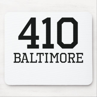 Baltimore Area Code 410 Mouse Pad