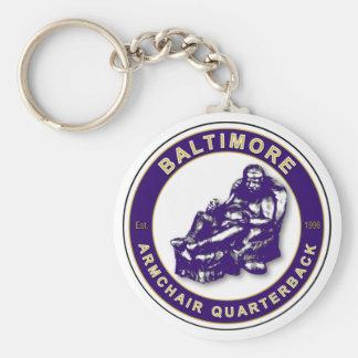 Baltimore Armchair Quarterback Football Shirt Basic Round Button Keychain