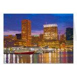 Baltimore at Night Greeting Card
