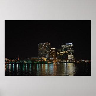 Baltimore at Night Poster