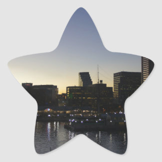 Baltimore at Night Star Stickers