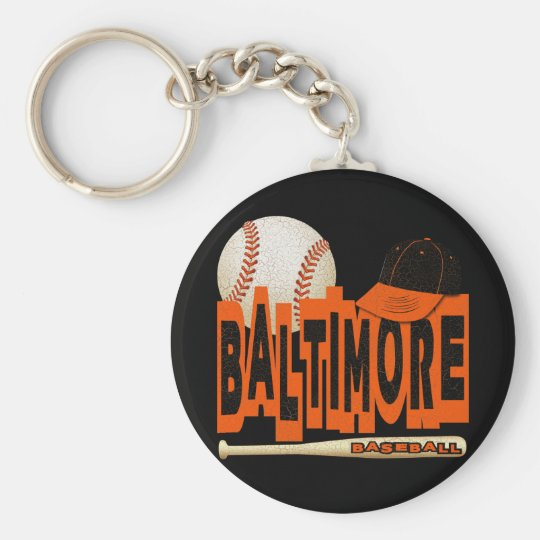 BALTIMORE BASEBALL KEYCHAIN