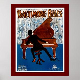 Baltimore Blues Print