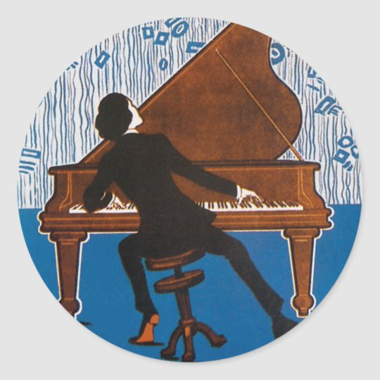 Baltimore Blues Vintage Song Sheet Cover Classic Round Sticker