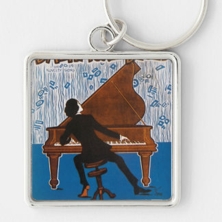 Baltimore Blues Vintage Song Sheet Cover Keychain