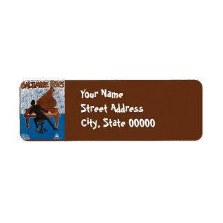 Baltimore Blues Vintage Song Sheet Cover Return Address Label
