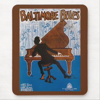Baltimore Blues Vintage Song Sheet Cover Mouse Pad