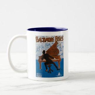 Baltimore Blues Vintage Song Sheet Cover Two-Tone Coffee Mug