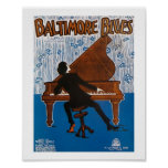 Baltimore Blues Vintage Song Sheet Cover Poster