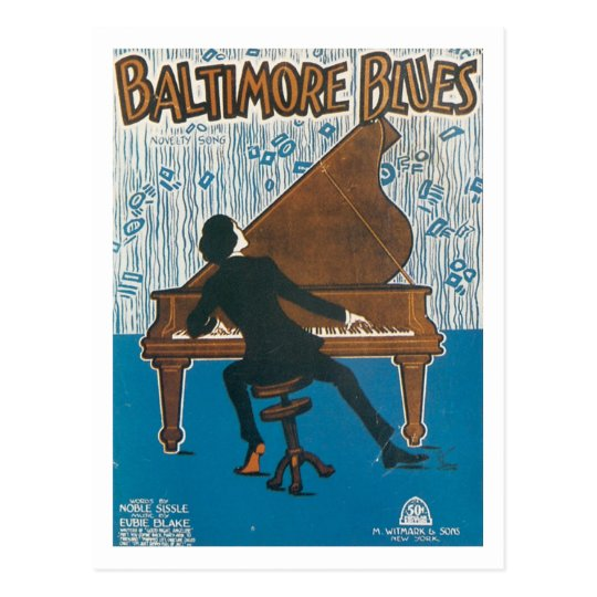 Baltimore Blues Vintage Songbook Cover Postcard