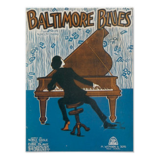 Baltimore Blues Vintage Songbook Cover Poster