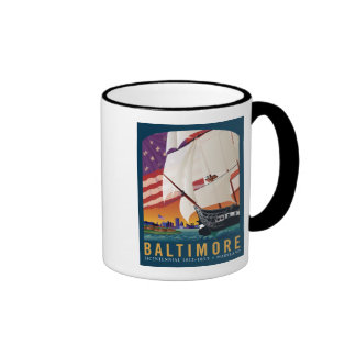 Baltimore: By the Dawn's Early Light Ringer Coffee Mug
