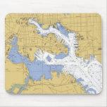 Baltimore, carta náutica Mousepad del puerto del M Tapetes De Ratón