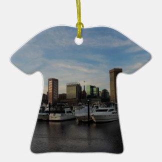 Baltimore céntrica en la puesta del sol ornatos