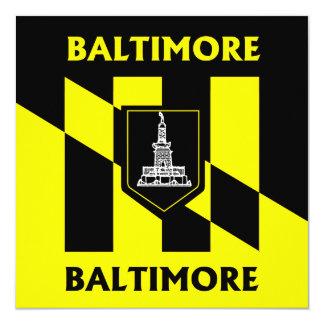 Baltimore city flag card