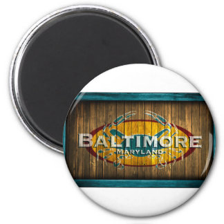 Baltimore Crab 2 Inch Round Magnet