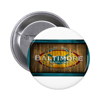 Baltimore Crab Pinback Button