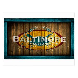 Baltimore Crab Postcard