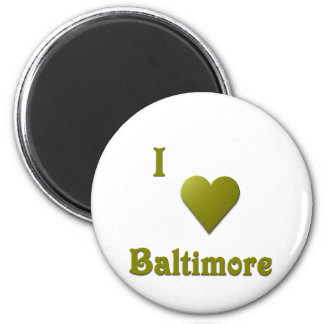 Baltimore -- Deep Green Refrigerator Magnets