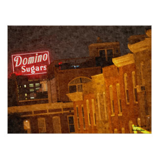 Baltimore Domino Sugars Oil Painting Poster