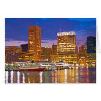 Baltimore en la noche tarjeta pequeña