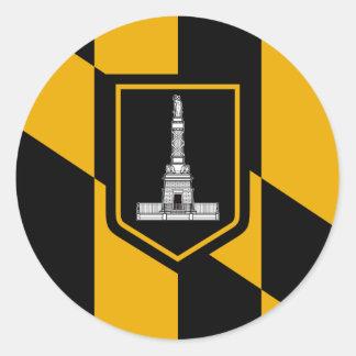 Baltimore Flag Classic Round Sticker