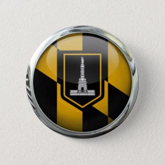Baltimore Flag Glass Ball Button