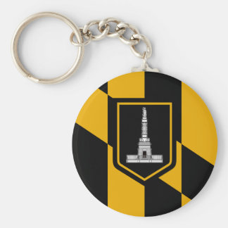 Baltimore Flag Keychain