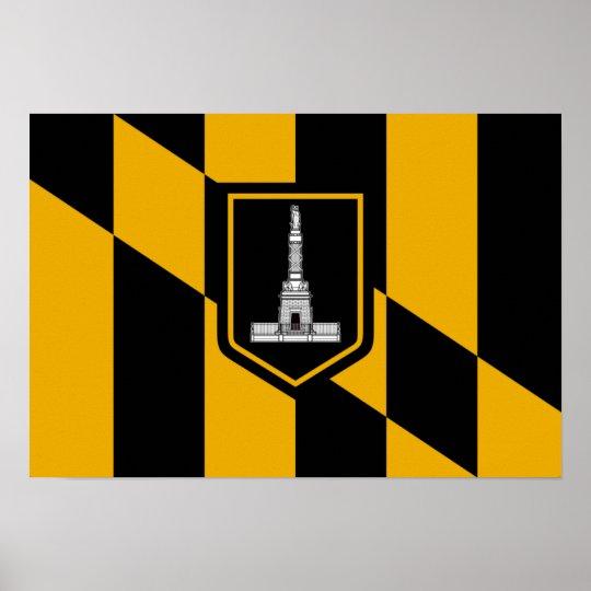 Baltimore Flag Poster