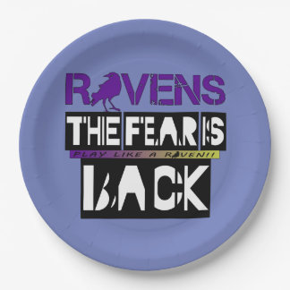 Baltimore Football Fear is Back!! Paper Plate