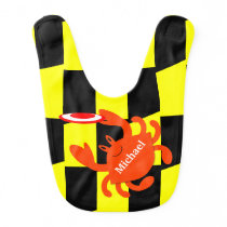 Baltimore Frisbee Crab Personalized Bib