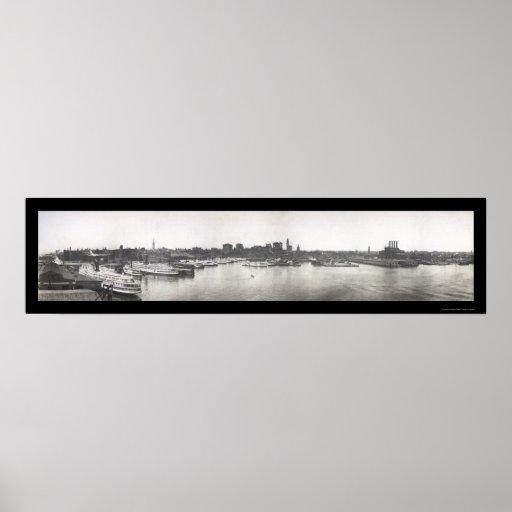Baltimore Harbor, MD Photo 1912 Print