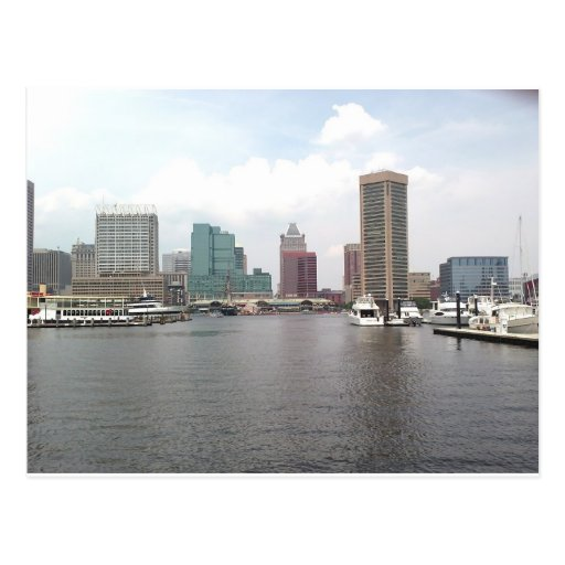 Baltimore hermosa Maryland Innerharbor Postal