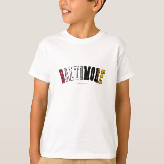 Baltimore in Maryland state flag colors T-Shirt