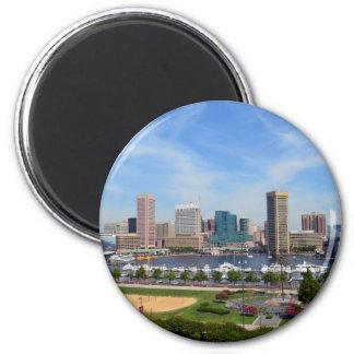 Baltimore Inner Harbor 2 Inch Round Magnet